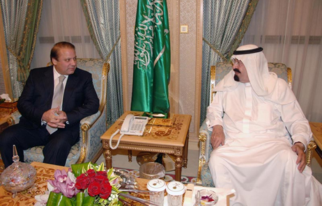 King Abdullah and his faithful servant Nawaz Sharif
