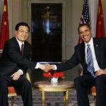 US President Obama and Chinese President Hu Jintao