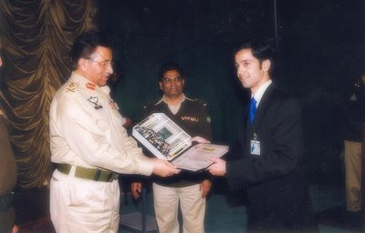 Ahmed Quraishi and Gen Musharraf