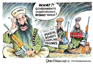 Jihadi confusion on peaceful revolutions