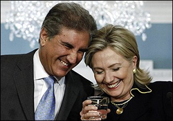 FM Qureshi with US Secretary of State Clinton