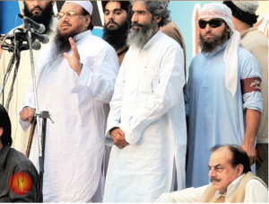 Hamid Gul with Hafiz Saeed