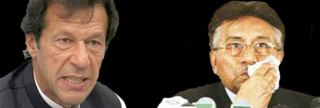 Imran Khan and Pervez Musharraf