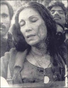 Begum Nusrat Bhutto beaten at Gaddafi stadium