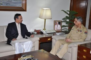 Husain Haqqani and General Tariq Majid