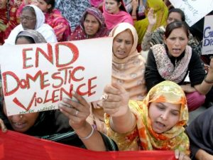 Women demand end to domestic violence