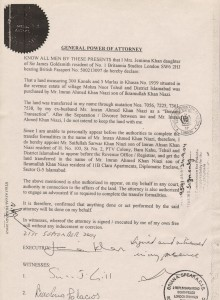 Imran Khan Benami Document
