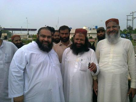 Tahir Ashrafi with Malik Ishaq and Ahmed Ludhianvi