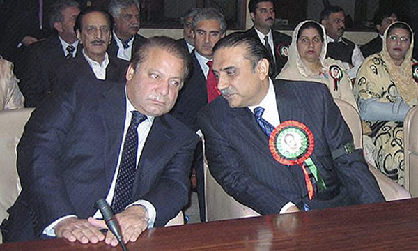 Nawaz Sharif taking lessons from Asif Zardari