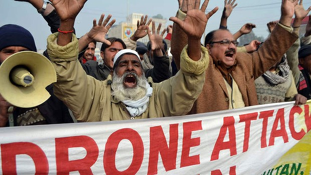 protest against drones