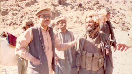 Gen Hamid Gul with jihadi militants