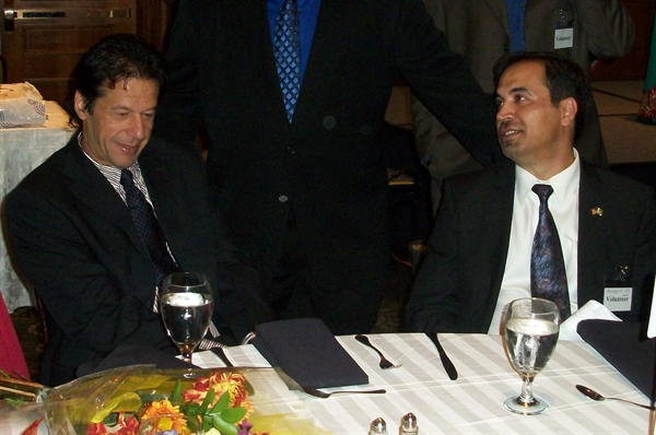 Imran Khan at an expensive fundraising dinner in America