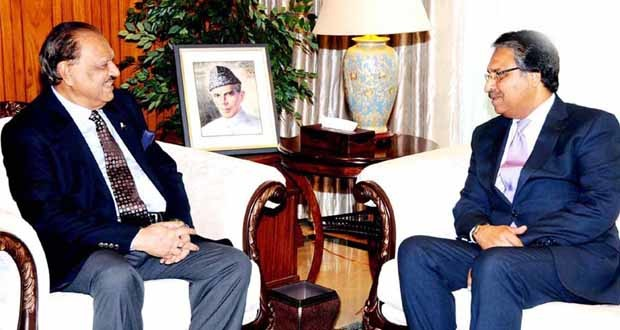 Mamnoon Hussain and Jalil Jilani