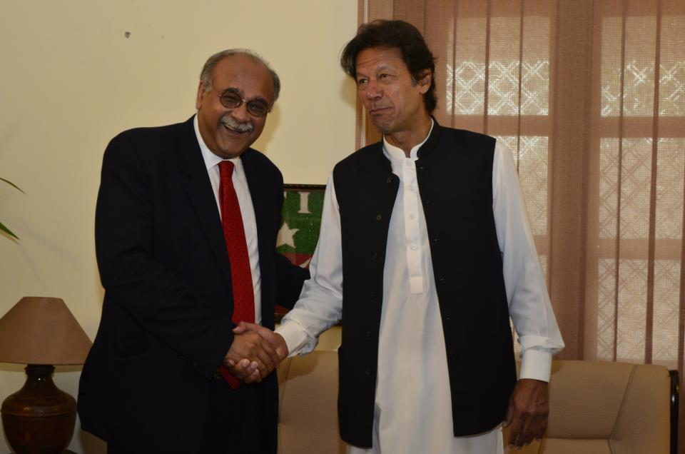 Imran Khan and Najam Sethi discuss 2013 poll administration