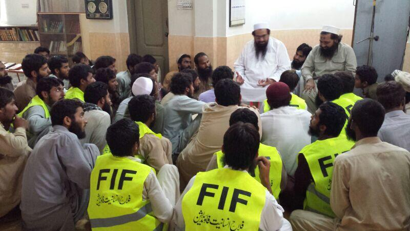 Hafiz Saeed addresses FIF camp