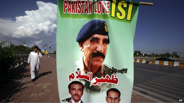 Pakistan Love ISI posters in Islamabad