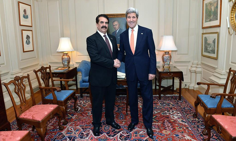 Gen Raheel with Secretary Kerry in Washington