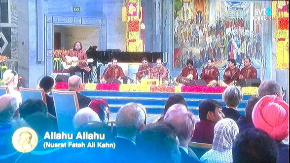 Rahat Fatah Ali Khan performing at Nobel Peace Prize Ceremony in Oslo