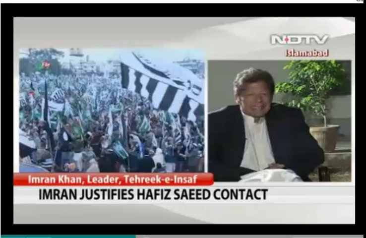 Imran Khan justifies Hafiz Saeed contact