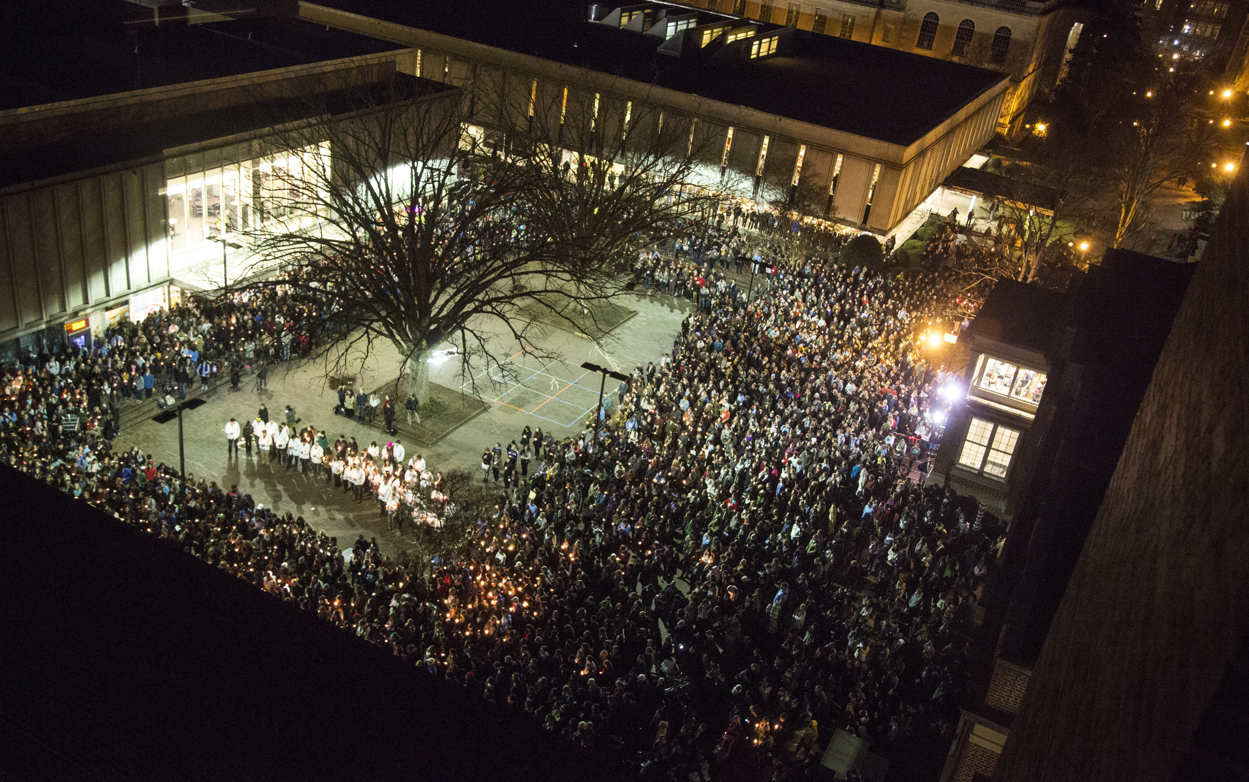 Chapel Hill vigil for murdered Muslim doctors