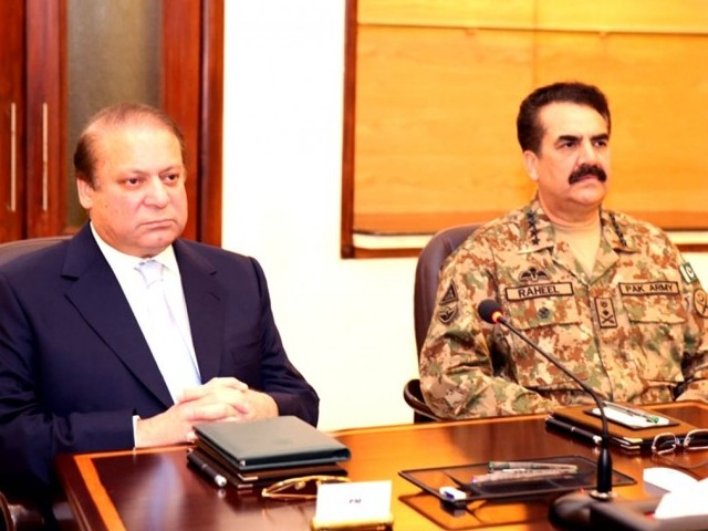 Nawaz Sharif and Gen Raheel
