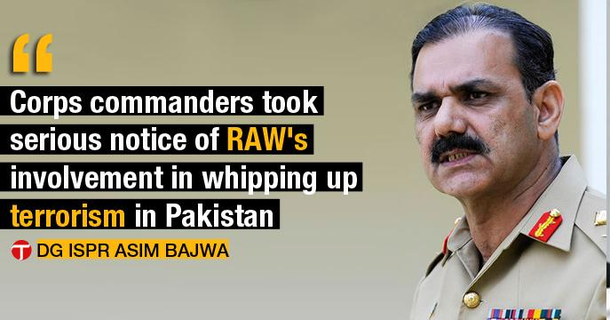Corps Commanders Take Notice of RAW Involvement in Terrorism