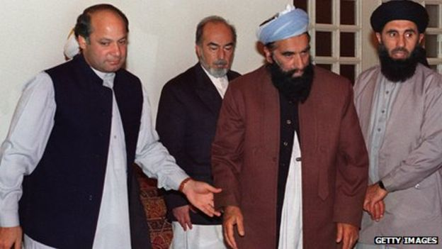 Nawaz Sharif met Afghan warlords and religious leaders at his residence during Afghan peace talks in 1993