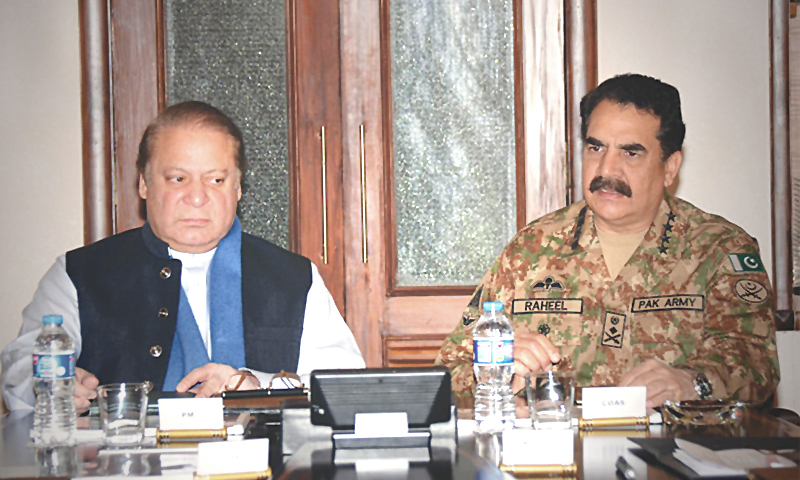 PM Nawaz Sharif and COAS Gen Raheel
