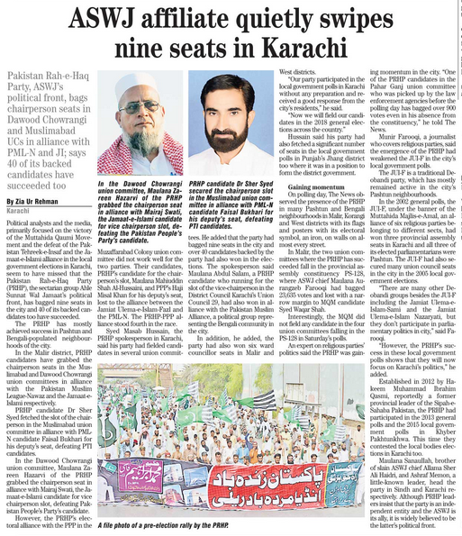 ASWJ affiliate quietly swipes nine seats in Karachi