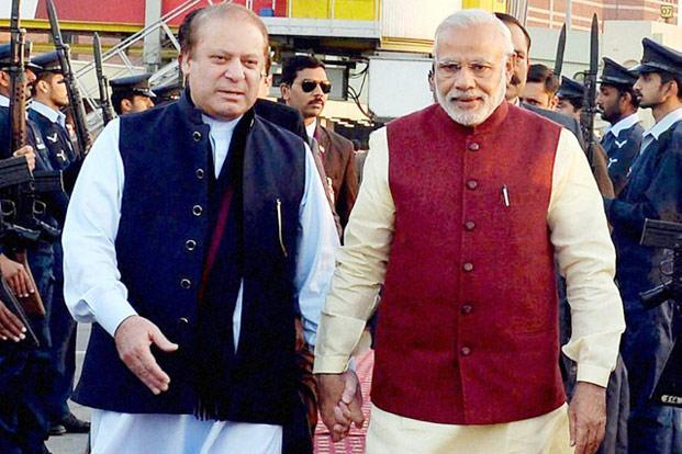 PM Nawaz and PM Modi in Lahore