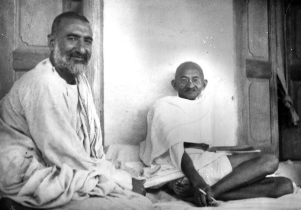 Bacha Khan and Ghandi