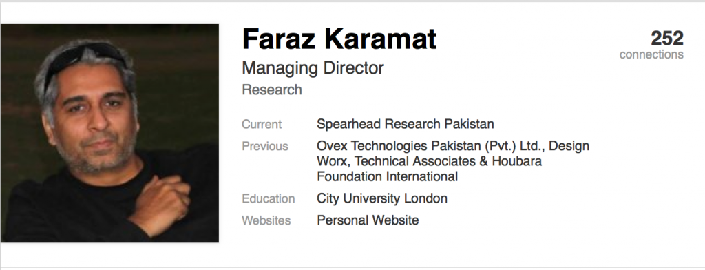 Faraz Karamat Spearhead Research