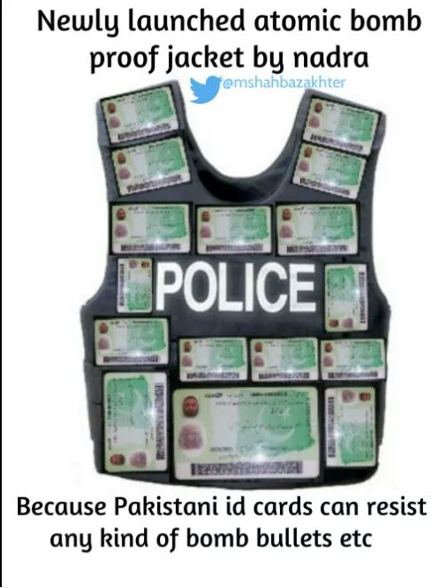 Pakistan Bomb Proof Passport