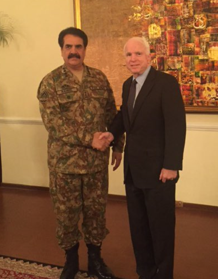 John Mccain and Gen Raheel